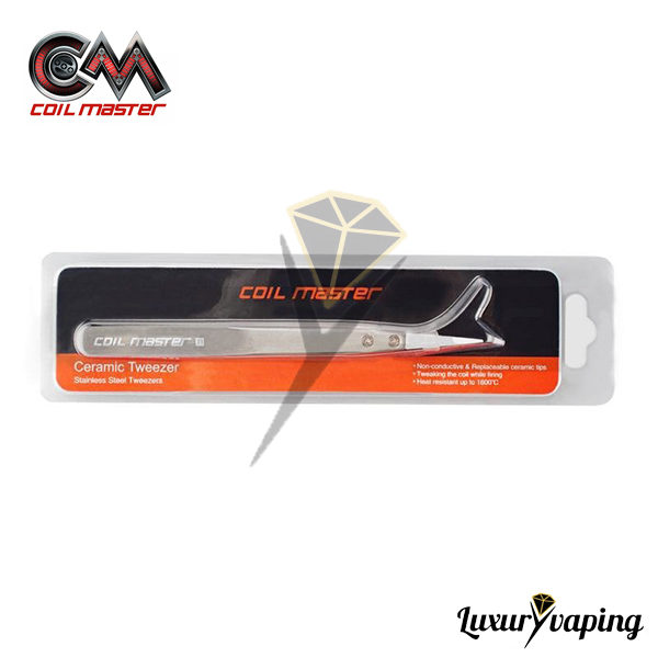 Ceramic Tweezers SS Coil Master