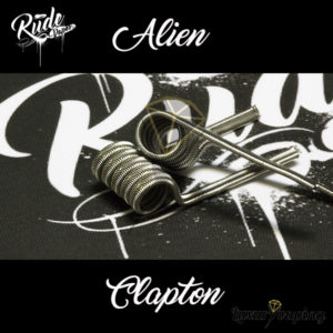 Rude Coils Alien Clapton Rude Vapes