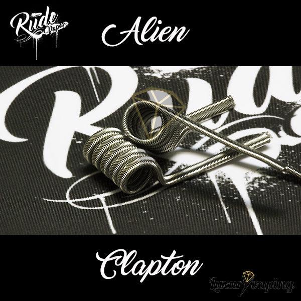 Rude Coils Alien Clapton Rude Vapes
