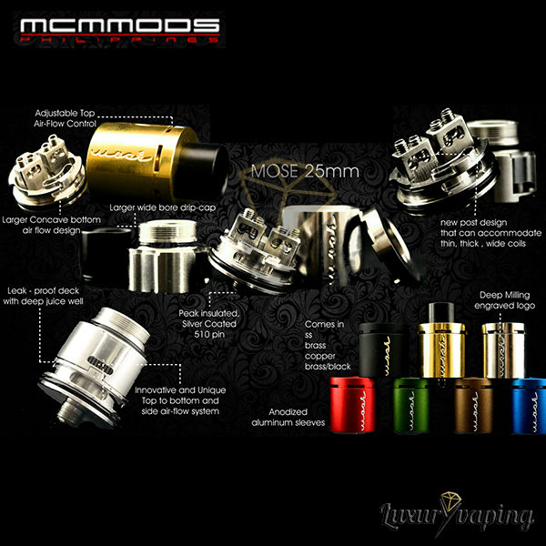 Mosé 25mm RDA MCM Mods Philippines