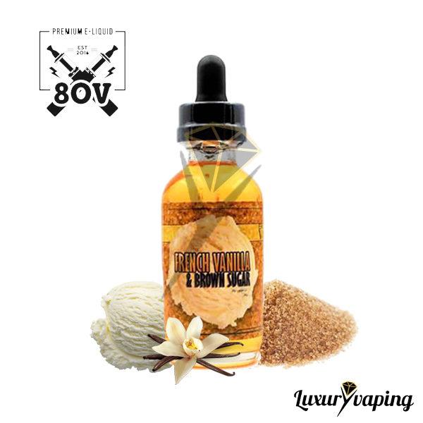 e-Liquido 80v French Vanilla and Brown Sugar
