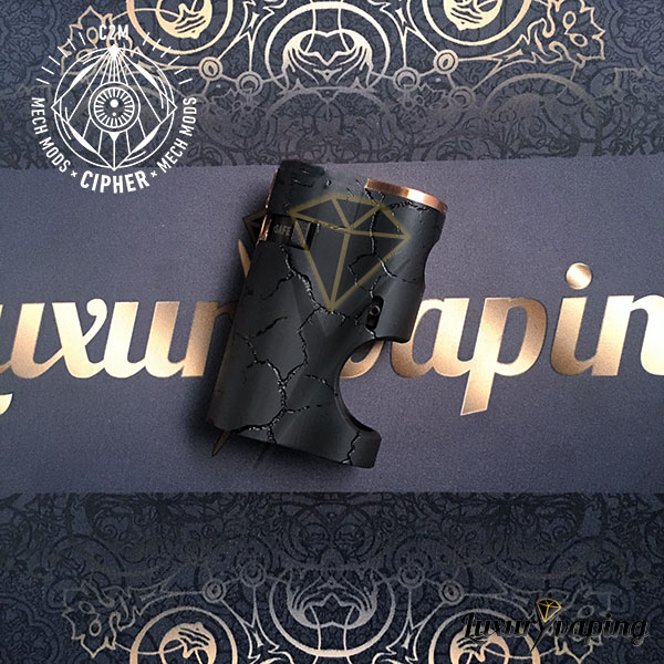 Gammon Bf Limited Edition Black Delrin Engraved Cipher Mods