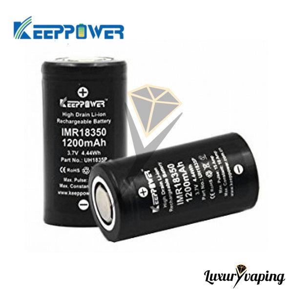 Keeppower IMR18350 1200mAh 10A Flat Top