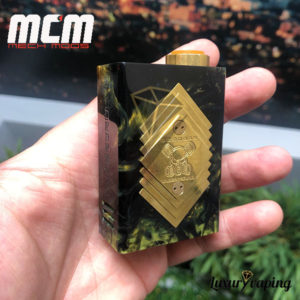 Underground V Series Box Mod Resin Black/Green MCM Mods Philippines